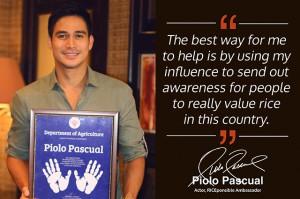 Piolo Pascual-PhilRice
